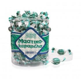 Καραμέλες κρυσταλλικές με φυσική Μαστίχα. Ζελατ. οβάλ κουτί 250g
