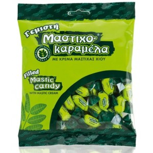 Mastic Candy Filled with mastic cream. Bag 200g