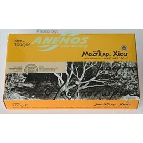 Natural Chios mastic. Box 100g Large size tears