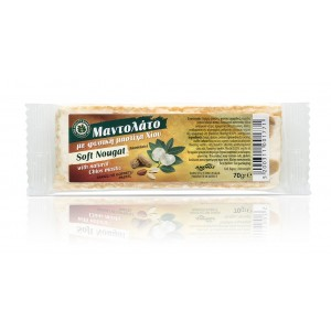"Soft nougat ""Mantolato"" with mastic and peanuts 70g"