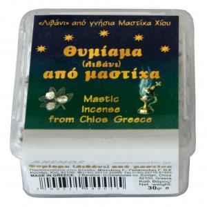 Mastic incense in a plastic box 30g