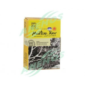Natural Chios mastic. Box 20g Large size tears