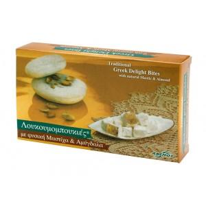 Λουκούμια Χίου μαστίχα & αμύγδαλα σε χαρτ. κουτί 200g