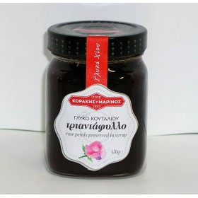 Τριαντάφυλλο (ροδοζάχαρη) γλυκό κουταλιού Χίου γυάλ. βάζο 400g