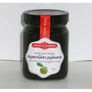 Νερατζάκι πράσινο γλυκό κουταλιού Χίου γυαλ. βάζο 400g