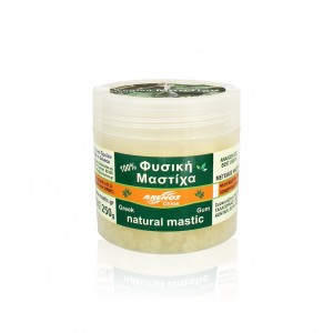 Natural chios gum mastiha. Packing in jars by ANEMOS