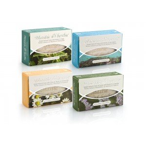 "4 natural ""Mastic & herbs"" soaps with mastic"