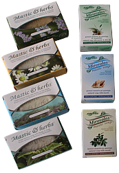 Natural soaps with mastic